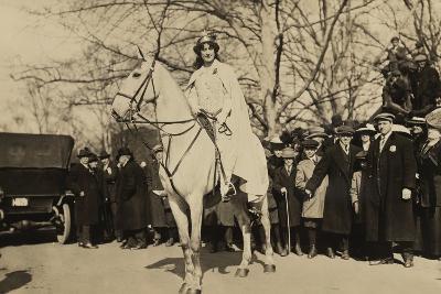 Suffragist Inez Milholland, Was the 'Herald' of Washington Parade, March 3, 1917--Photo