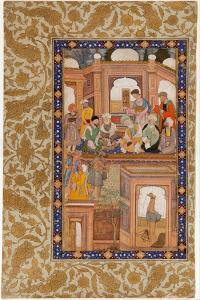 Sufi Reunion, Miniature from Nafahat Al-Uns (Breaths of Fellowshi)