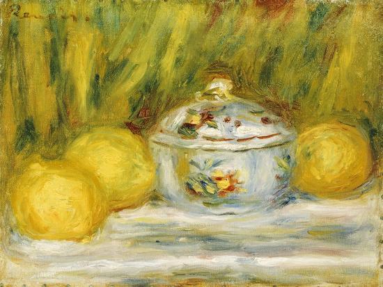 Sugar Bowl and Lemons, 1915-Pierre-Auguste Renoir-Giclee Print