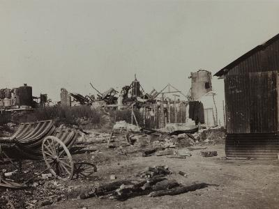 Sugar Factory in Berry-Au-Bac Destroyed by Bombing During World War I--Photographic Print