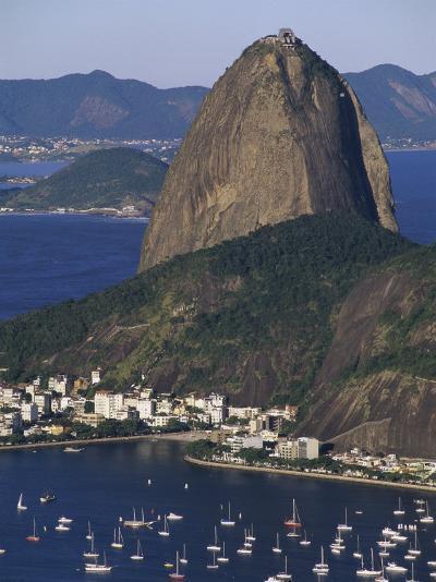 Sugar Loaf Mountain, Botafogo Bay, Rio de Janeiro, Brazil--Photographic Print