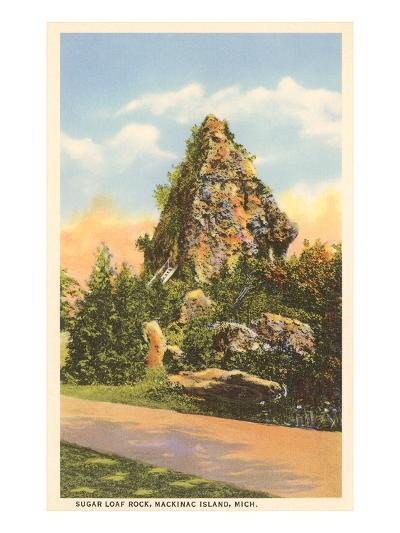 Sugar Loaf Rock, Mackinac Island, Michigan--Art Print