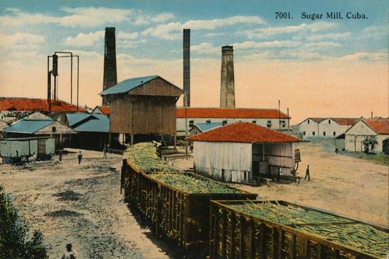 Sugar Mill, Cuba, c1910-Unknown-Giclee Print