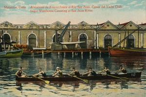 Sugar Warehouse Canoeing, San Juan River, Matanzas, Cuba, C1920S