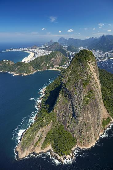 Sugarloaf Mountain (Pao de Acucar), and Copacabana Beach, Rio de Janeiro, Brazil-David Wall-Photographic Print