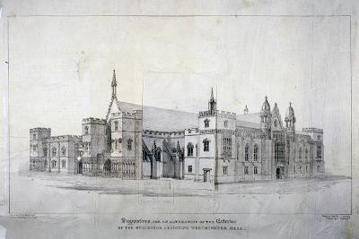 Suggestions for Alterations to the Buildings Adjoining Westminster Hall, London, C1825-James Duffield Harding-Giclee Print