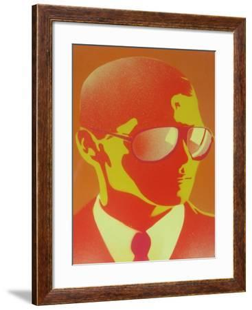 Suit and Shades-Abstract Graffiti-Framed Giclee Print