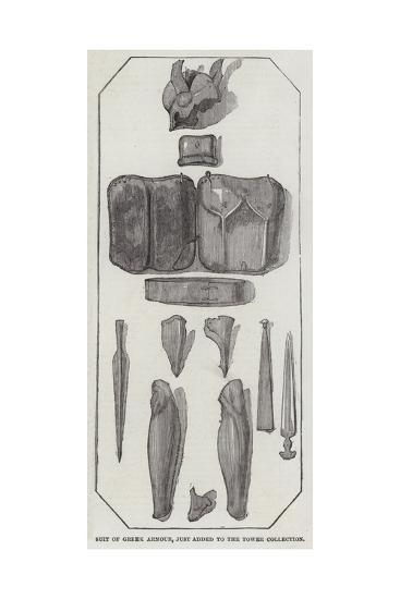 Suit of Greek Armour, Just Added to the Tower Collection--Giclee Print