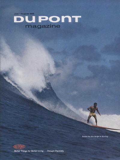 Suited for the Surge in Surfing, Front Cover of 'The Du Pont Magazine', July-August 1965--Giclee Print