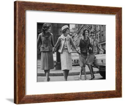 Suits Designed by Chanel-Paul Schutzer-Framed Premium Photographic Print