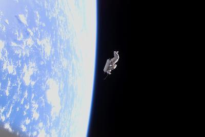 Suitsat in Orbit around Planet Earth--Photographic Print