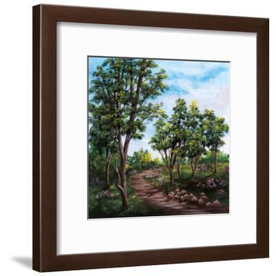 Suivre sa route-France Cloutier-Framed Art Print