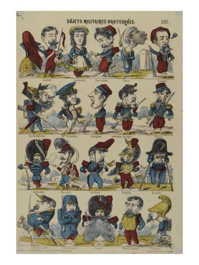 Sujets militaires grotesques--Giclee Print