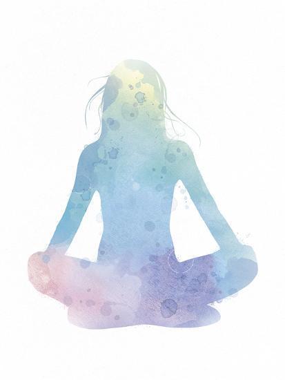Sukhasana - Meditate-Sasha Blake-Art Print