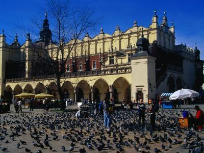 Sukiennice Arcaded Cloth Hall on Main Market Square, Krakow, Malopolskie, Poland-Krzysztof Dydynski-Photographic Print