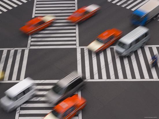 Sukiyabashi Pedestrian Crossing, Ginza, Tokyo, Japan-Gavin Hellier-Photographic Print