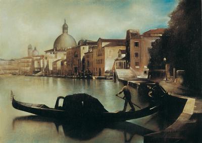 Sul Canal Grande-A. Sgarbossa-Art Print