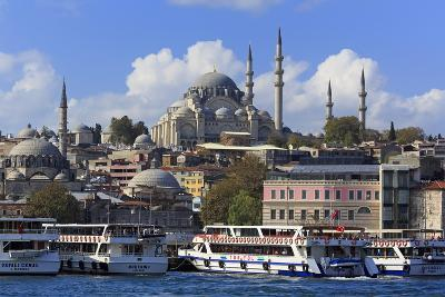 Sulemaniye Mosque, Eminonu and Bazaar District, Istanbul, Turkey, Europe- Richard-Photographic Print