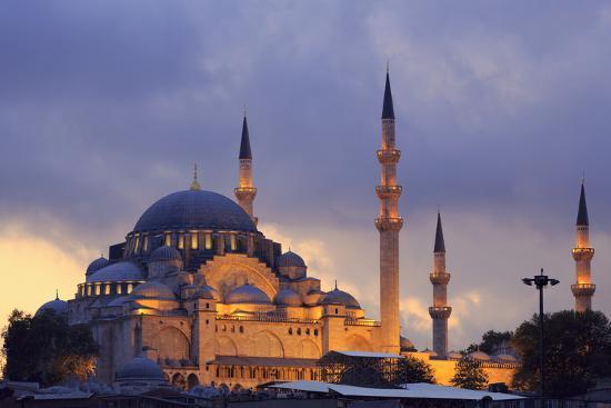 Suleymaniye Mosque, Eminonuand Bazaar District, Istanbul, Turkey, Europe-Richard Cummins-Photographic Print