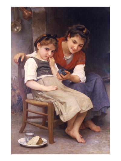 Sulking-William Adolphe Bouguereau-Art Print