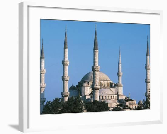 Sultan Ahmed Mosque or Blue Mosque, 1597-1616, Istanbul (Unesco World Heritage List, 1985), Turkey--Framed Photographic Print