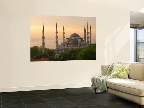 Sultan Ahmet (Blue Mosque) at Dawn, Historic Centre of Istanbul-Diego Lezama-Giant Art Print