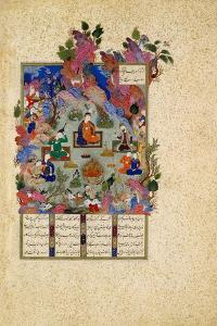 The Feast of Sada. from the Shahnama (Book of King), C. 1525 by Sultan Muhammad