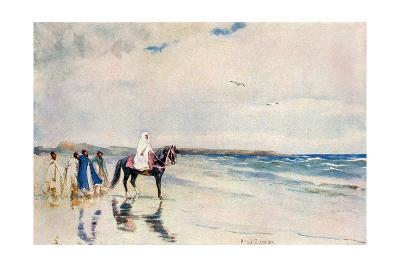 Sultan Mulai Abd-Ul-Aziz on the West Shore of Morocco, Circa 1900--Photographic Print