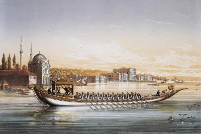 Sultan's Palace and Boats Parade in Turkey in 1855, Print by Lemercier, 19th Century--Giclee Print