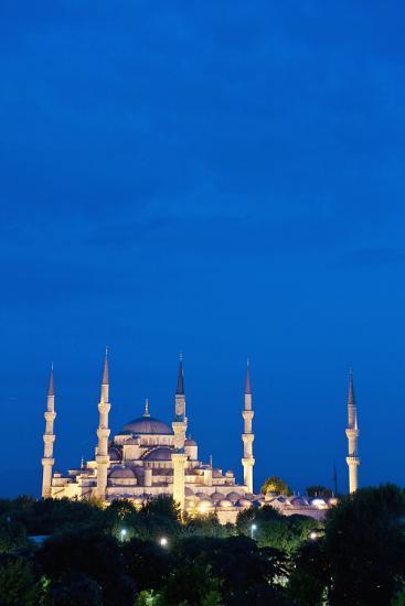 Sultanahmet or Blue Mosque at Dusk-Design Pics Inc-Photographic Print