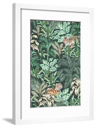 Sumatran Tiger, Green-Jacqueline Colley-Framed Giclee Print