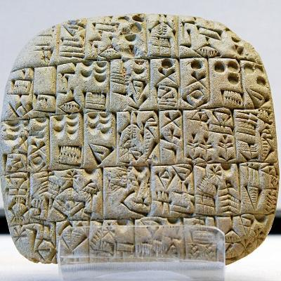 Sumerian Contract Written in Pre-Cuneiform Script--Photographic Print