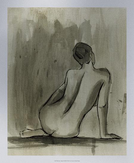 Sumi-e Figure II-Ethan Harper-Premium Giclee Print