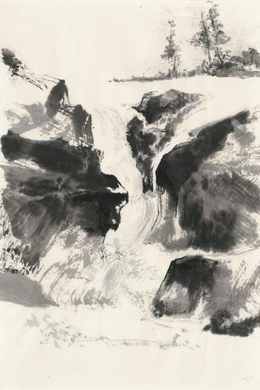 Sumi Waterfall V-Chris Paschke-Art Print