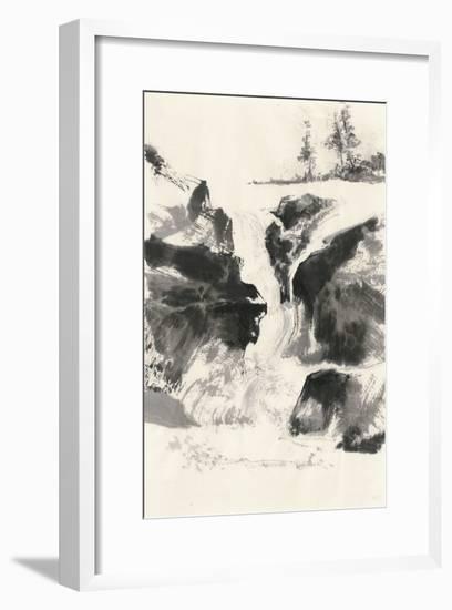 Sumi Waterfall V-Chris Paschke-Framed Art Print