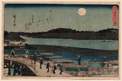 Sumida Gawa No Tsuki-Utagawa Hiroshige-Giclee Print