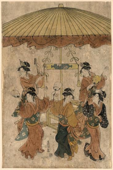 Sumiyoshi Odori-Hosoda Eishi-Giclee Print