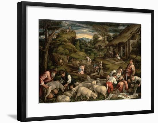 Summer, 1576-Francesco Bassano-Framed Giclee Print