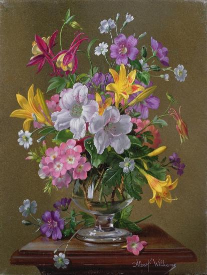 Summer Arrangement in a Glass Vase-Albert Williams-Giclee Print