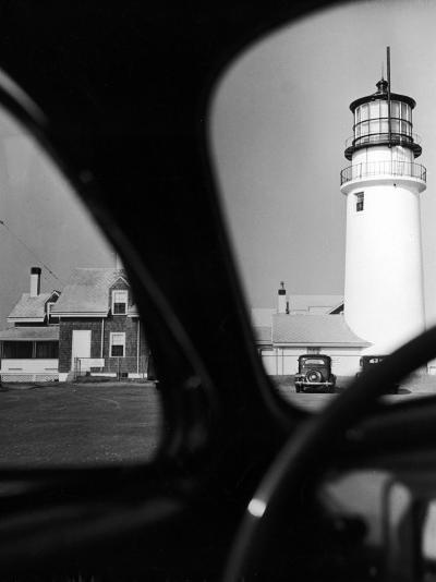 Summer at Cape Cod: Highland Lighthouse Viewed from Automobile-Alfred Eisenstaedt-Photographic Print