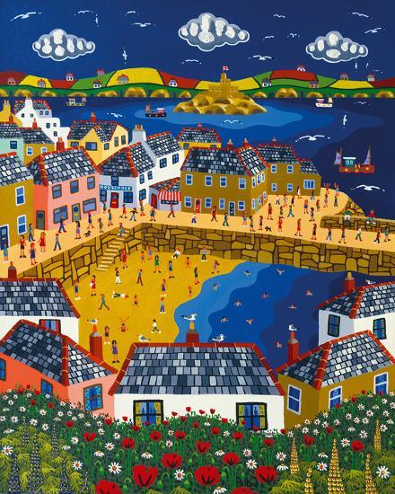 Summer at Mousehole-Brian Pollard-Giclee Print