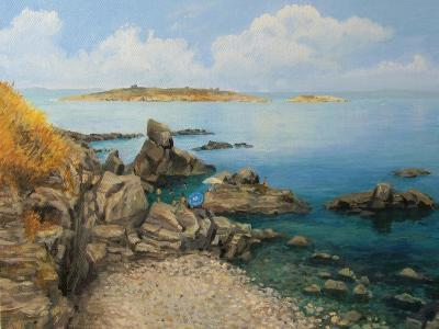 Summer At Sozopol'S Seacoast-kirilstanchev-Art Print