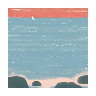 Summer at the Lake I--Art Print