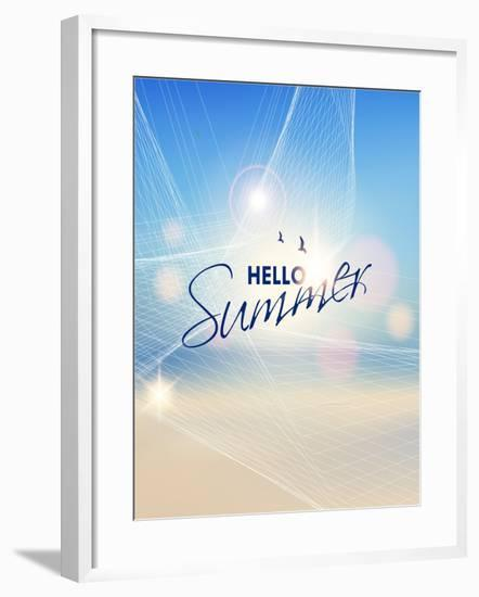 Summer Beach-Vector Background- AlessandraM-Framed Art Print