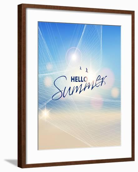 Summer Beach-Vector Background- AlessandraM-Framed Art Print