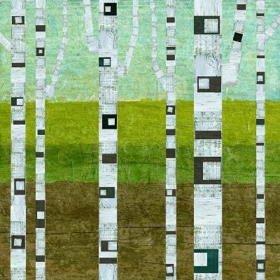Summer Birches-Michelle Calkins-Art Print