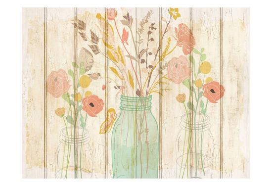Summer Bloom Jars-Kimberly Allen-Art Print