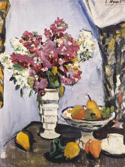 Summer Blossom and a Bowl of Fruit, with a Cup and Saucer-George Leslie Hunter-Giclee Print