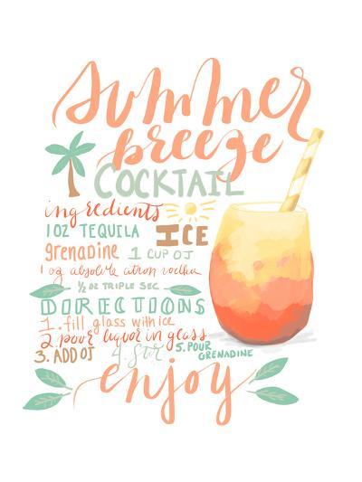 Summer Breeze Cocktail Recipe-Jetty Printables-Art Print