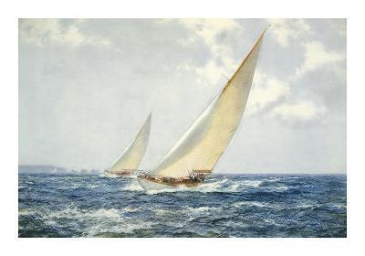 Summer Breezes off The Needles-Montague Dawson-Premium Giclee Print